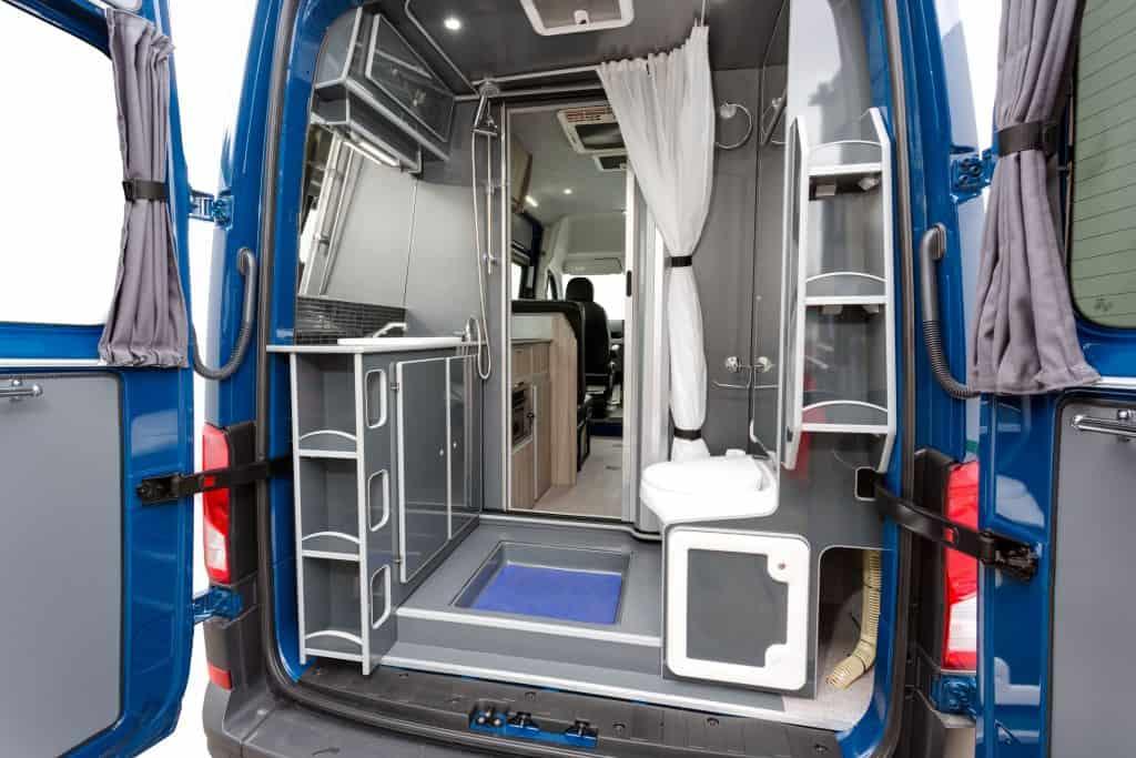 Inside the VW artesano campervan for sale