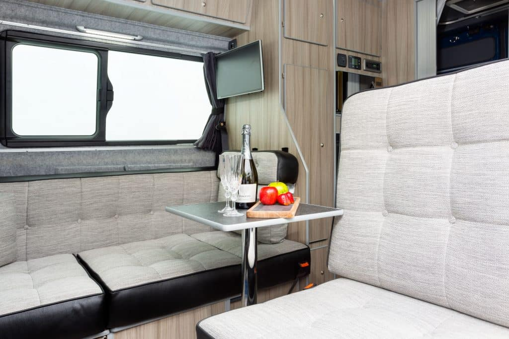 Small dining area in the VW Artesano
