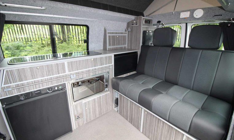 Crusader Campervan with seats folded back